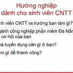 Hướng nghiệp dành cho sinh viên CNTT -CT3A -2019